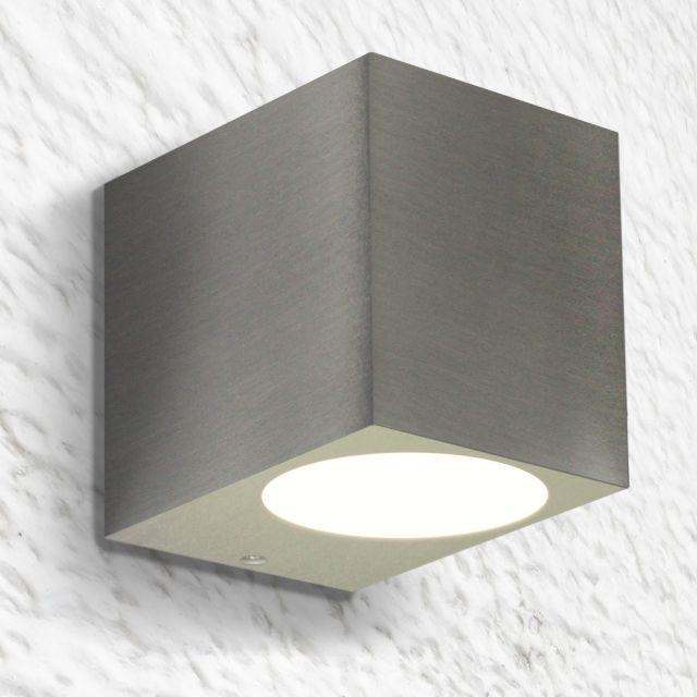 Elegant LED Wandleuchte, Wandlampe, Außenleuchte, Aluminium, 1 Flammig, Edelstahl  Geb. Great Pictures