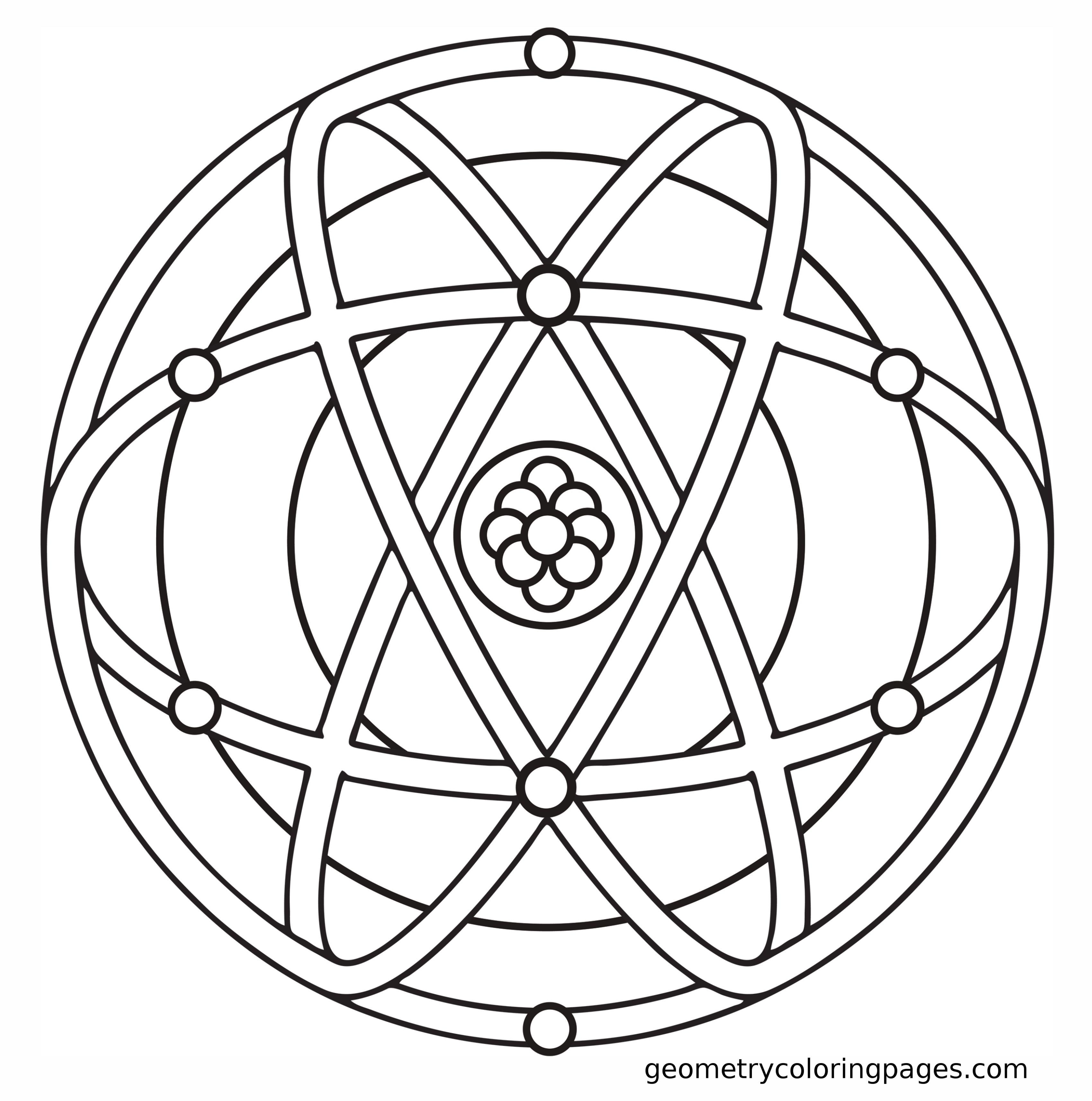 Mandala Coloring Page, Genesa Crystal from
