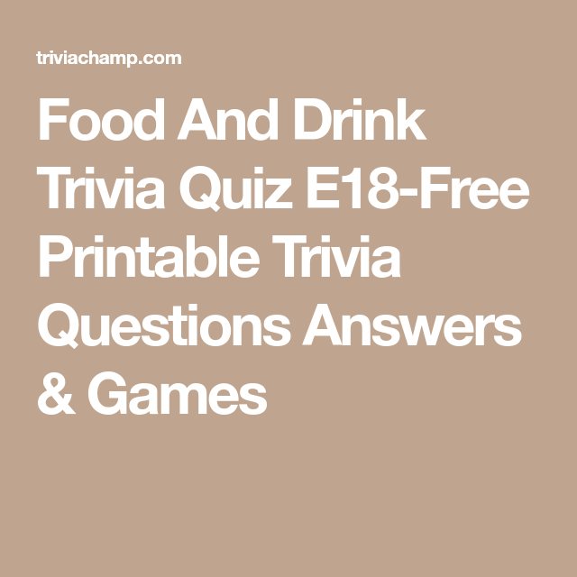 quiz answers trivia questions drink printable sports games christmas answer science