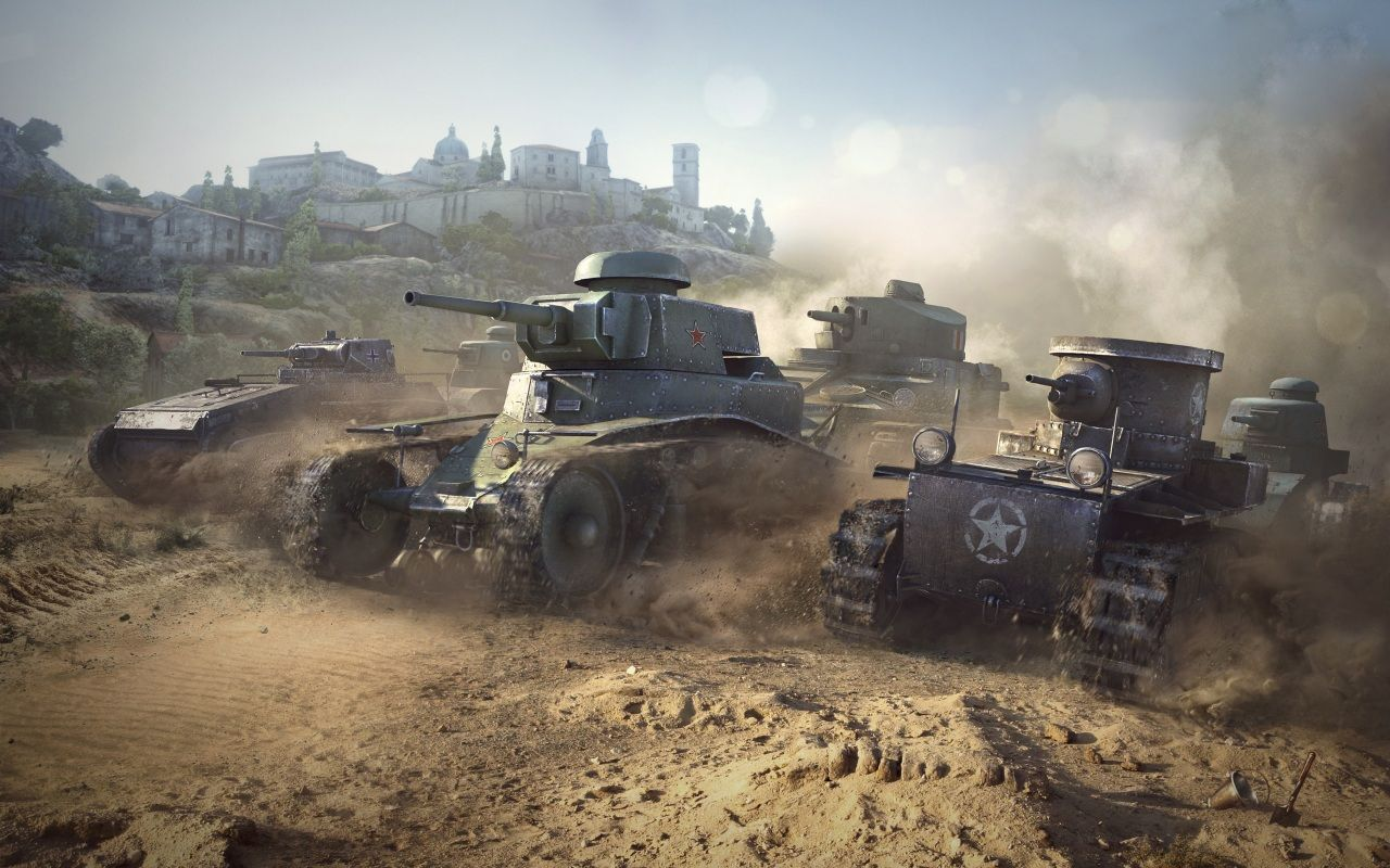 Wallpapers World of Tanks Tanks MS1 Games Army Photo