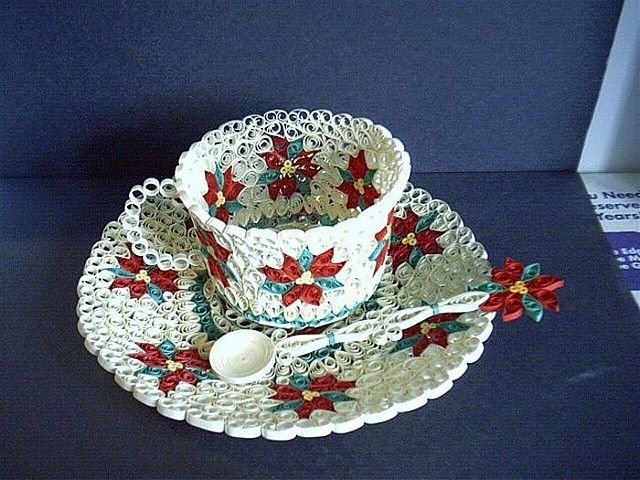 Pointesttia Tea Cup Saucer And Spoon Quilling Patterns Quilling