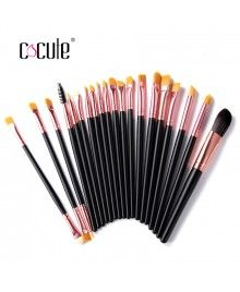 Cocute Hot Sale 20 Pcs Makeup Brushes Synthetic Hair With Blusher Powder Brush Tools
