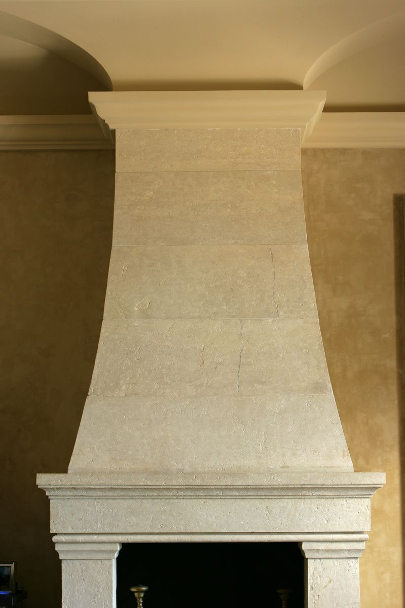 Michael Thronson Masonry Thin Stone Veneer Projects And: Stone Carved Fireplace Designed By Michael Suttor For A