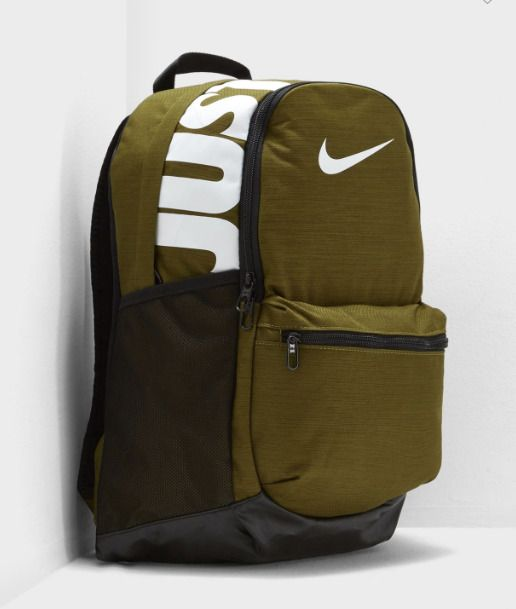 0db30043cdca Nike BRASILIA Medium School Bag Backpack - Olive Green with Laptop Sleeve   fashion  clothing  shoes  accessories  unisexclothingshoesaccs   unisexaccessories ...