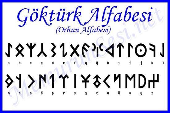 Göktürk alfabesi | Alfabe yazı tipleri, Semboller, Alphabet