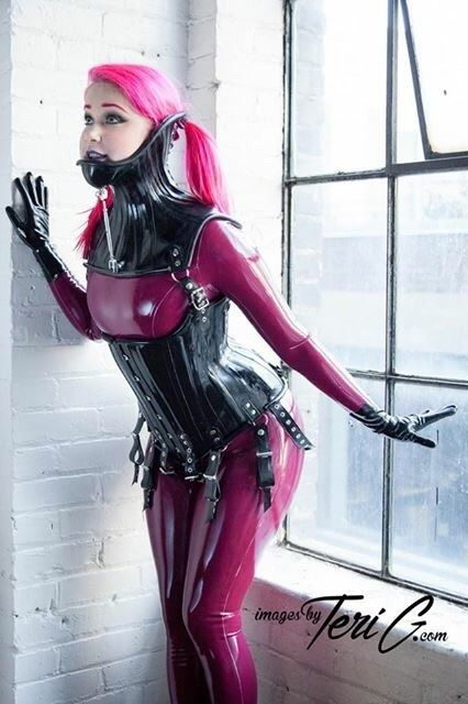 """3503b28a77f fetishkitsch  """" Teasing Mr.Fox at FetishKitsch.com! Catsuits by Fantastic  Rubber"""