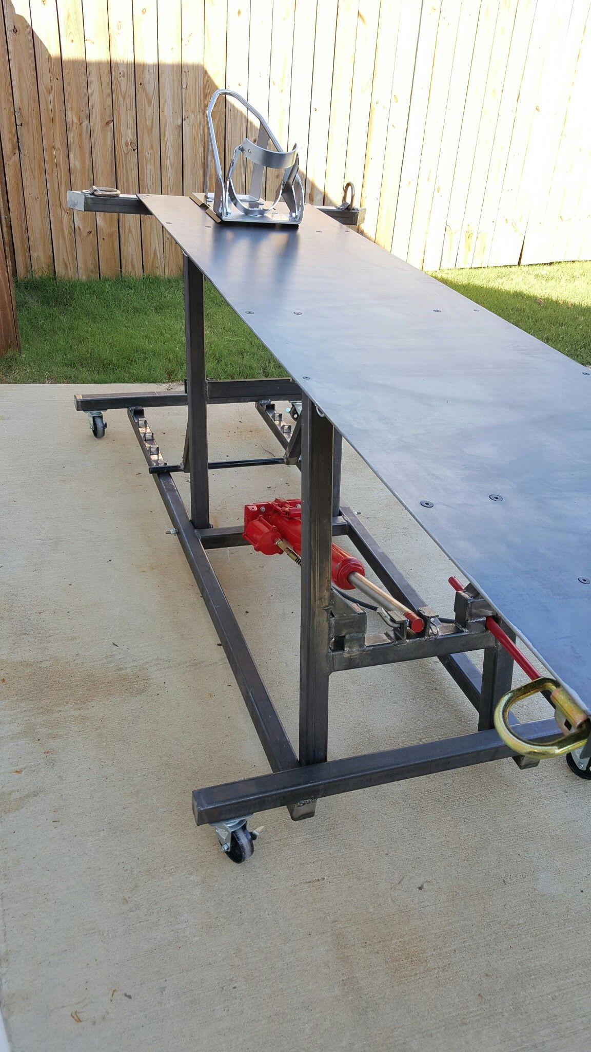 Hydraulic Motorcycle Lift Table 8t Pneumatic Isted Jack Ram Bike Pro Wheel