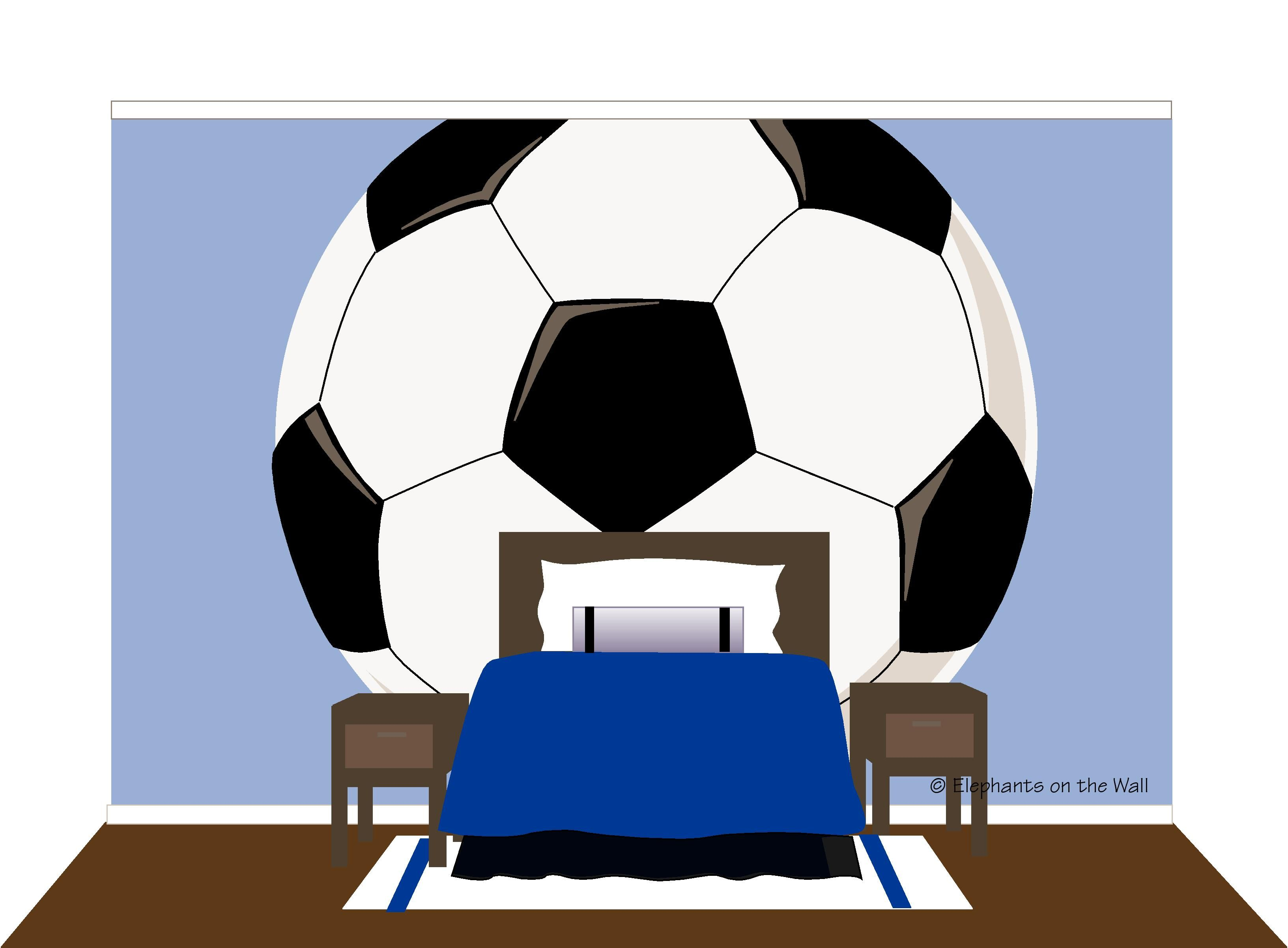 Mega Soccer Paint By Number Wall Mural