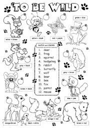 english worksheet to be wild animals 2 3 august activities kids developmental delay and. Black Bedroom Furniture Sets. Home Design Ideas