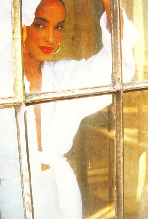 My icon, Sade, influenced my look from late 90s to mid