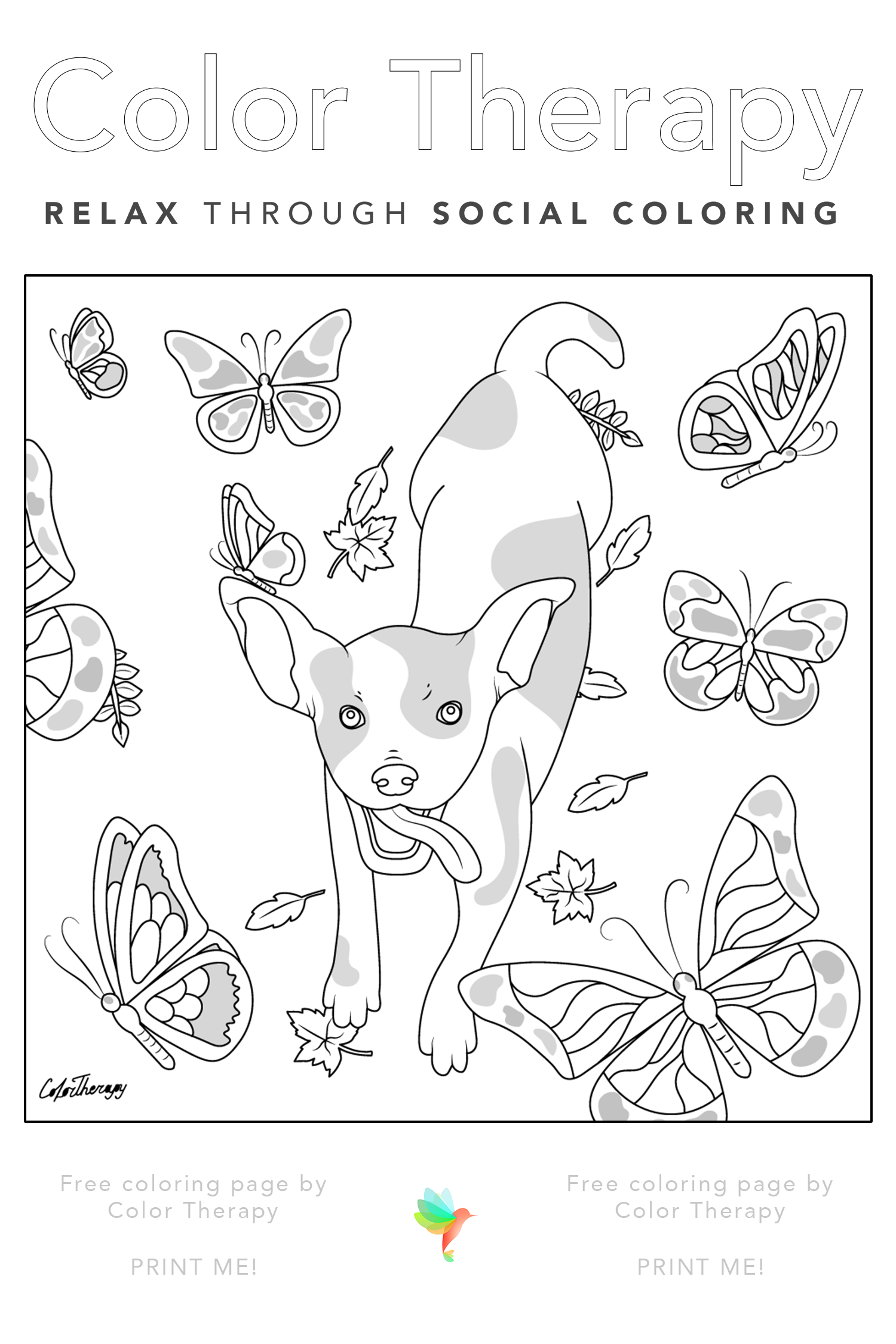 Pin By Mog On C Fashion Coloring Book Color Therapy Dog Coloring Page