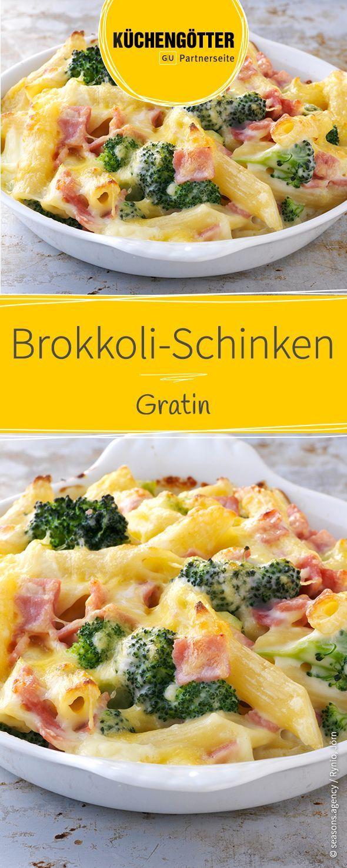 Brokkoli-Schinken-Gratin
