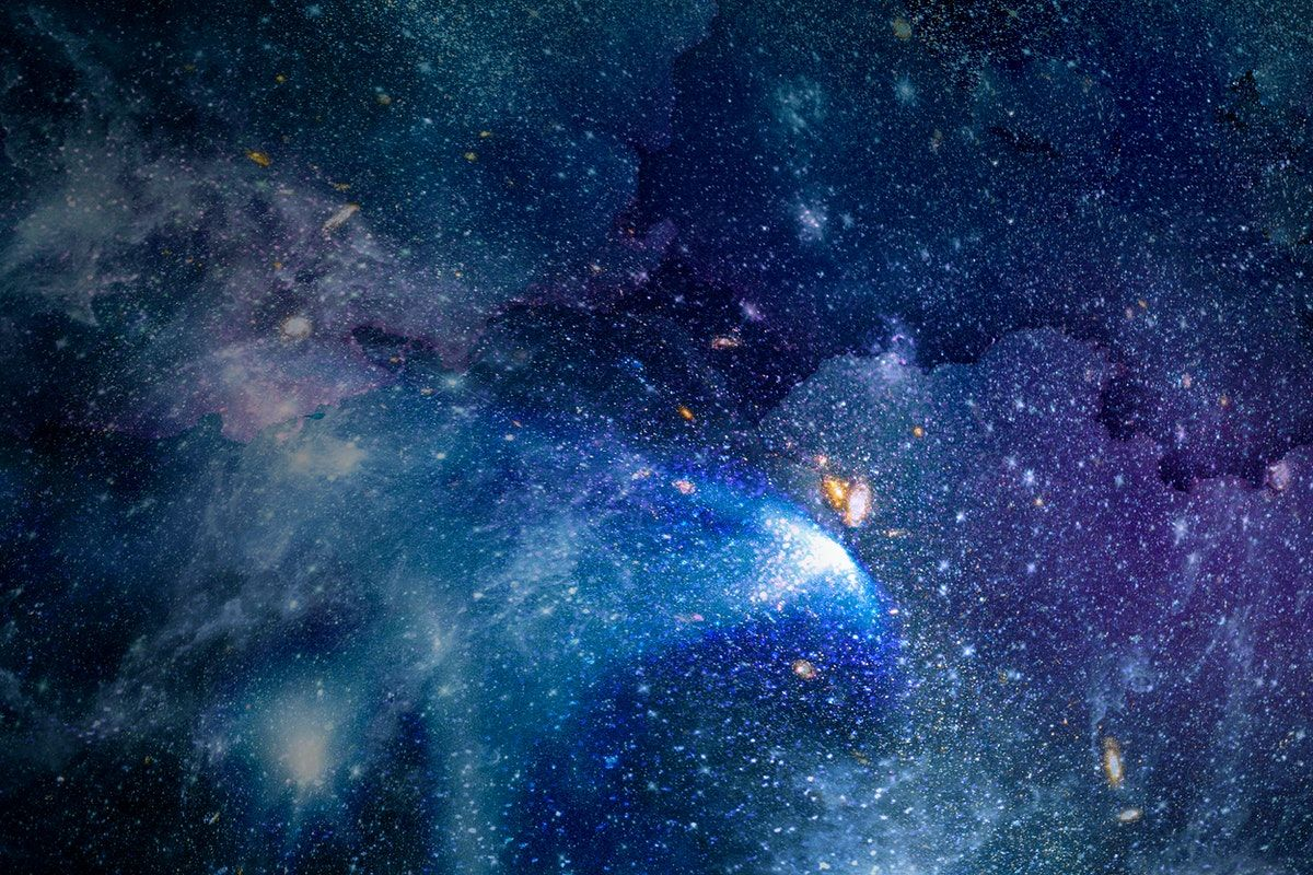 Download Premium Illustration Of Galaxy In Space Textured Background Sky Textures Background Hd Wallpaper Textured Background