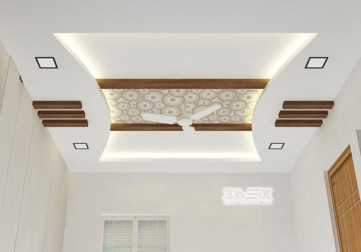 contemporary pop false ceiling design with led lights for living ...