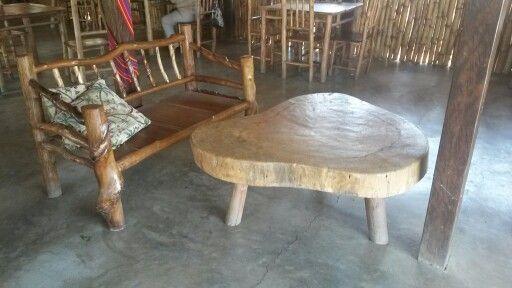 DIY wood furniture  El Estor, Lago Izabal, Guatemala