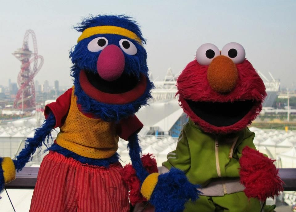 Grover And Elmo London 2012 Sesame Street Muppets The