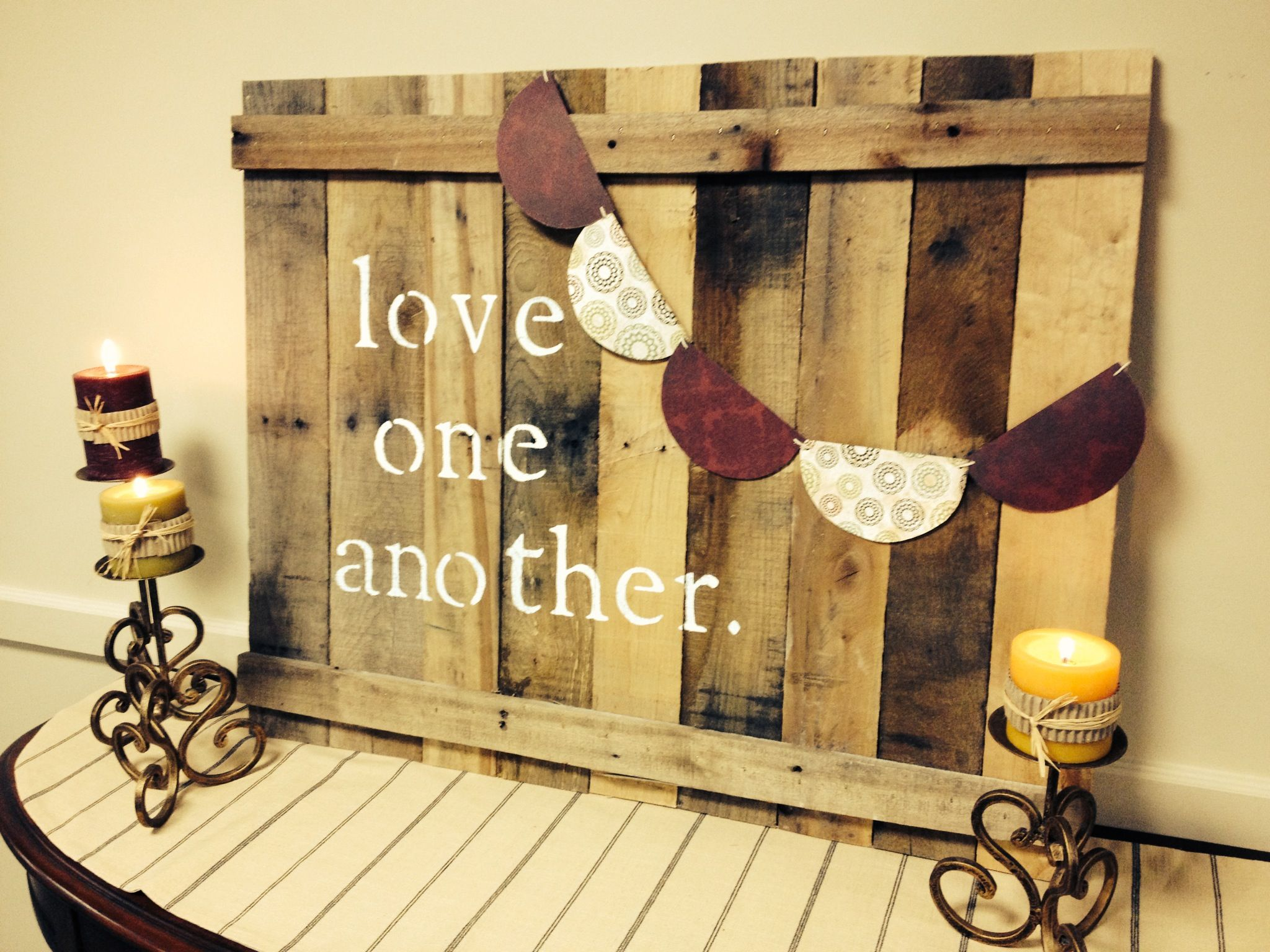 Living Life Together ...church foyer. stencil Love One Another ...