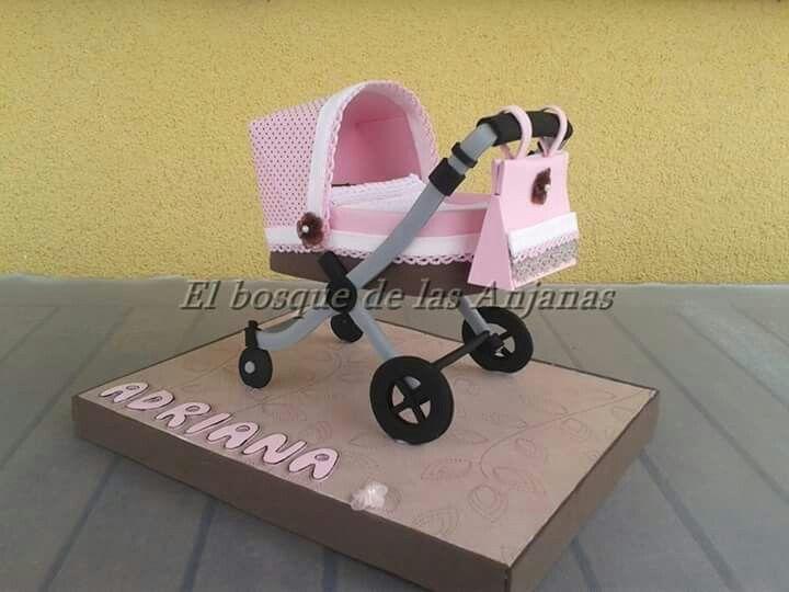 Carrito bebe en goma eva sillita de paseo de bebes con - Goma espuma para sillas ...