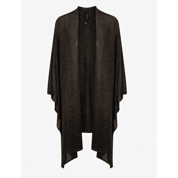 Ted Baker Metallic wrap cardigan ($69) ❤ liked on Polyvore featuring tops, cardigans, jet, draped wrap top, open front draped cardigan, sleeveless wrap top, drapey cardigan and sleeveless open front cardigan