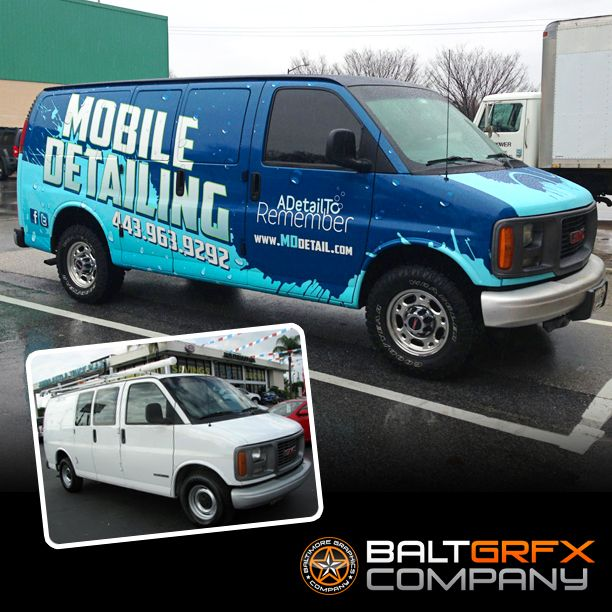 Mobile Detailing Commercial Wrap By Baltimore Graphics Company Wrapped And Printed On Oracal 3751ra With Car Wash Business Commercial Vehicle Car Wrap Design