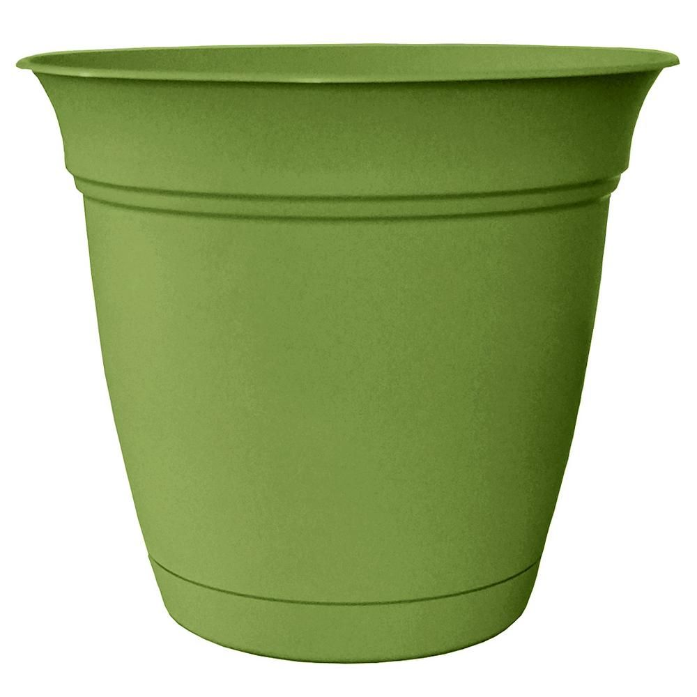 Belle 20 in. Dia. Peridot Green Plastic Planter with Attached Saucer on home depot stores products, home depot pots, home depot department store, home depot flower specials, home depot planter boxes, home depot patio sets, home depot englander wood stove, home depot garden center plants, home depot truck, home depot product search, home depot product online, home depot container garden, home depot product list,