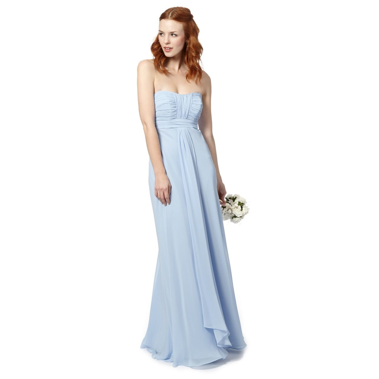 Debut light blue ruched bodice maxi dress at debenhams debut light blue ruched bodice maxi dress at debenhams ombrellifo Images