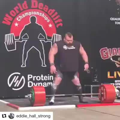 British Strongman Eddie Hall Broke The World Deadlift Record In