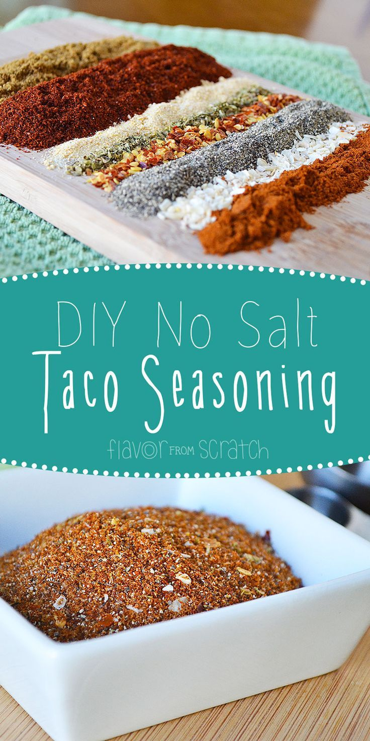 No Salt Taco Seasoning -  #salt #seasoning #Taco #maketacoseasoning