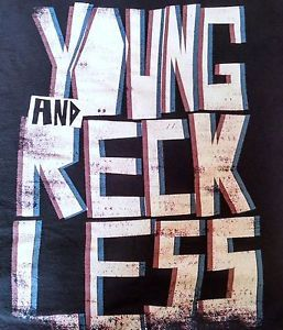 Young and Reckless Shirt XL 3D Design Great Summer Skate Gear Dyrdek Drama | eBay