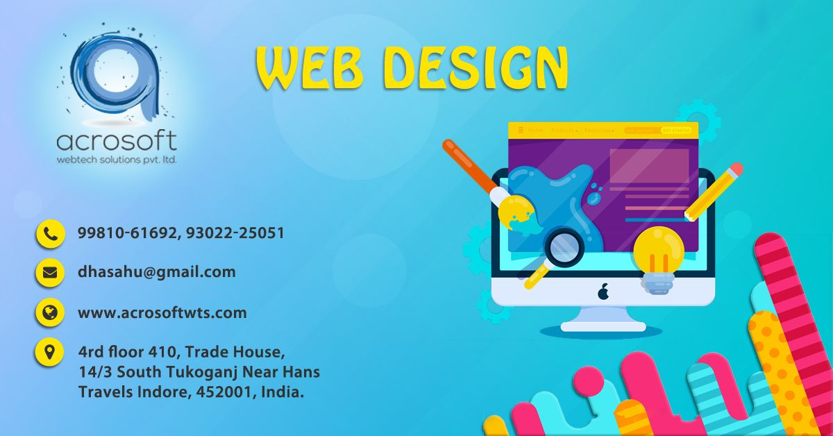 Pin By Acrosoft Webtech On Web Design Web Design Website Design Company Affordable Web Design