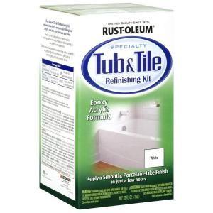Painting Bathroom Tile Kits rust-oleum specialty 1 qt. white tub and tile refinishing kit