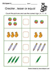 math worksheet : more than less than pictures clip art  google pretraživanje  : More Than Less Than Worksheets For Kindergarten
