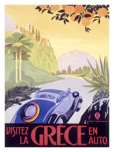 Greece Automobile reproduction procédé giclée sur AllPosters.fr