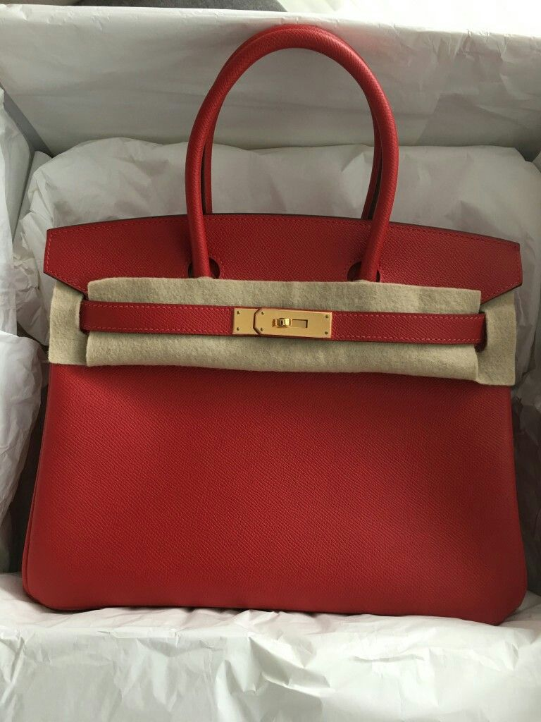 55dc23cda02c Model  Hermes Birkin 30 Condition  New Stamp  X Color  Rouge Casaque Leather
