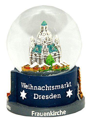30020 Schneekugelhaus Snowglobe Bola de Nieve como Souvenir de la Ciudad Dresden