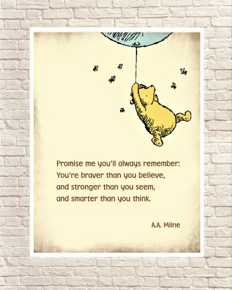 Winnie the Pooh, Classic Pooh, Pooh Wall Art, Pooh Art Prints, Pooh and Blue Balloon, Vintage Pooh Drawings, Classic Winnie the Pooh Quote.