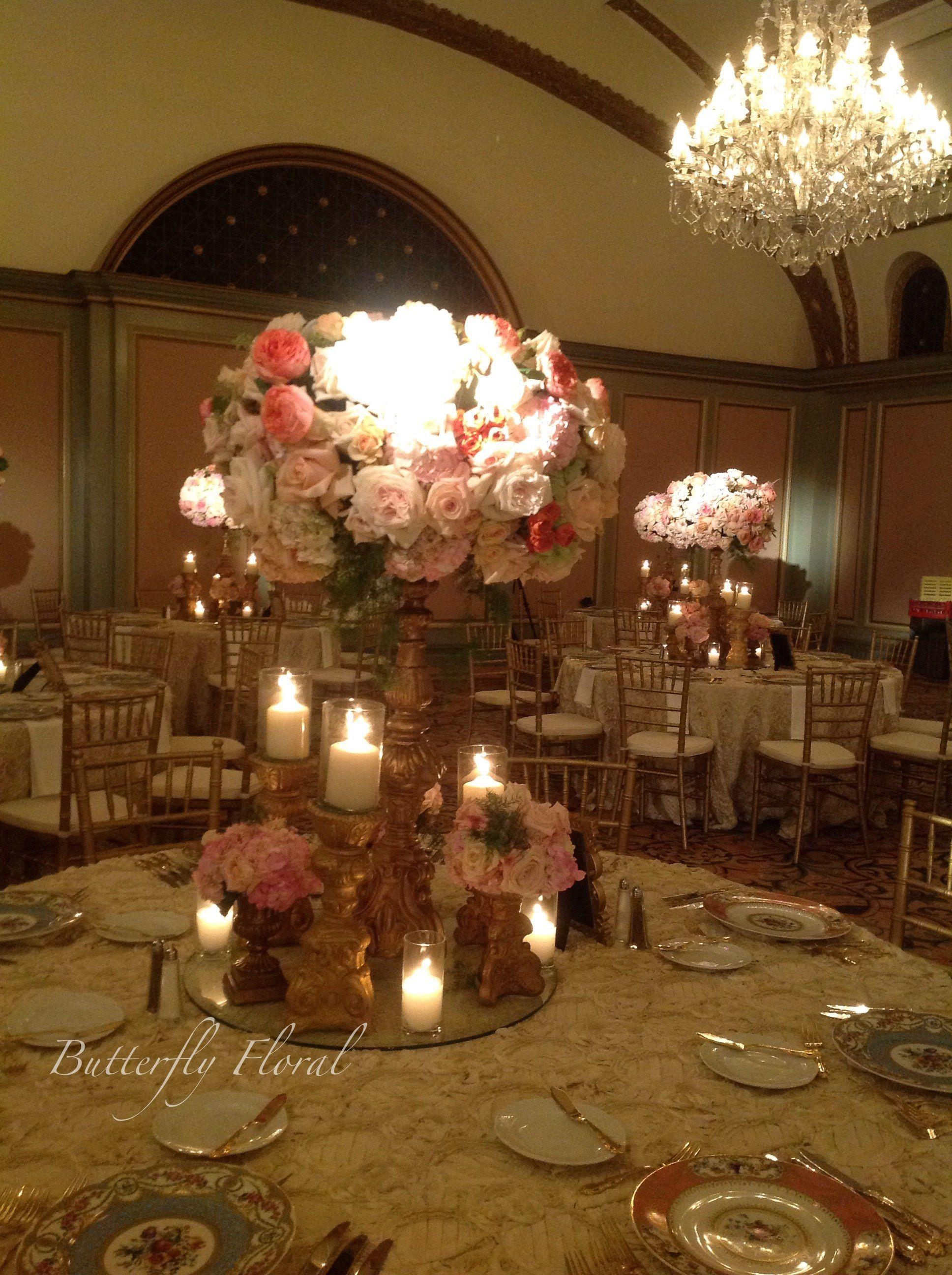 Wedding decoration ideas gold  Centerpiece wedding bride flowers beautiful reception