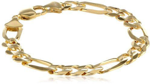 10k Yellow Gold 9 7mm Figaro Bracelet 1 065 87 Bracelets Gold Bracelet Gold