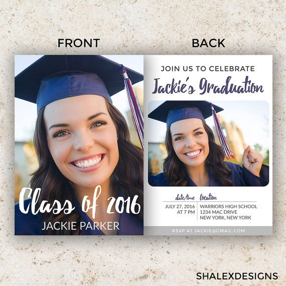 senior graduation announcement templates