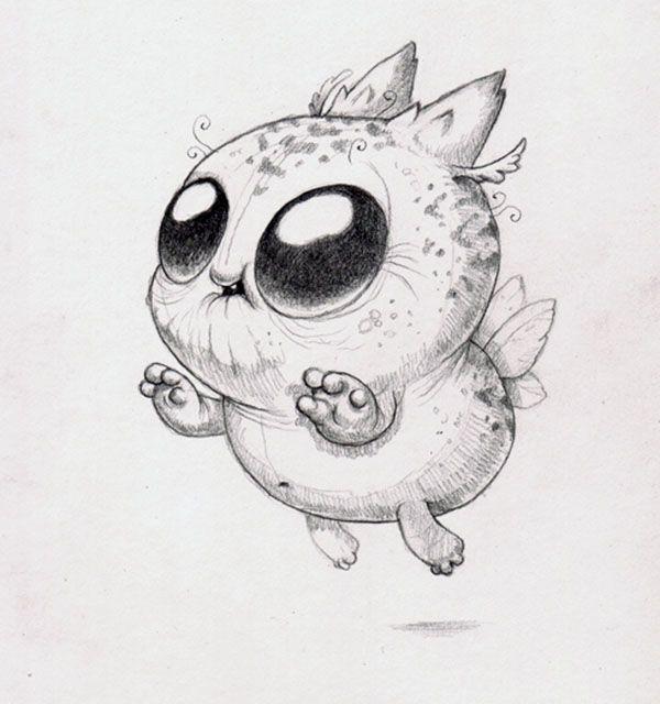 Милые существа картинки для срисовки