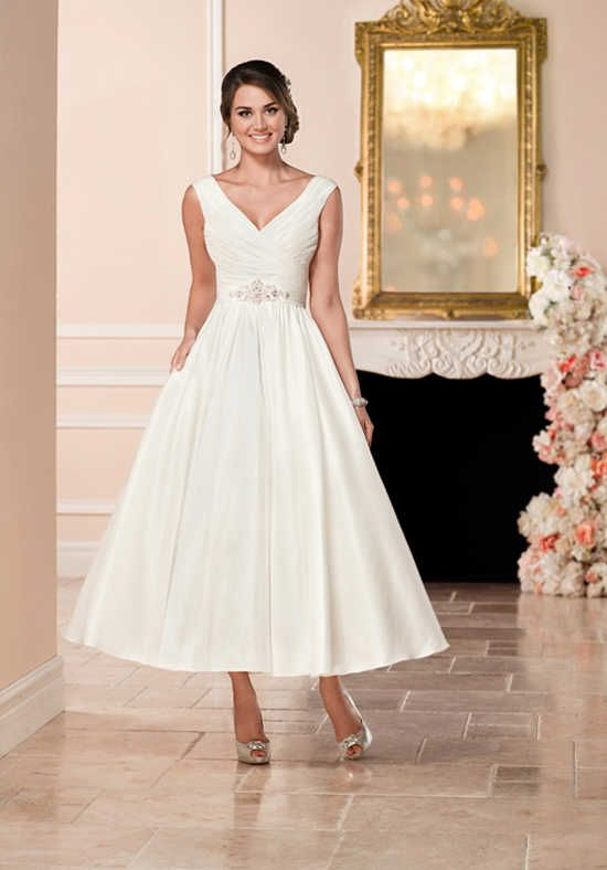 tea length tulle gown with pockets