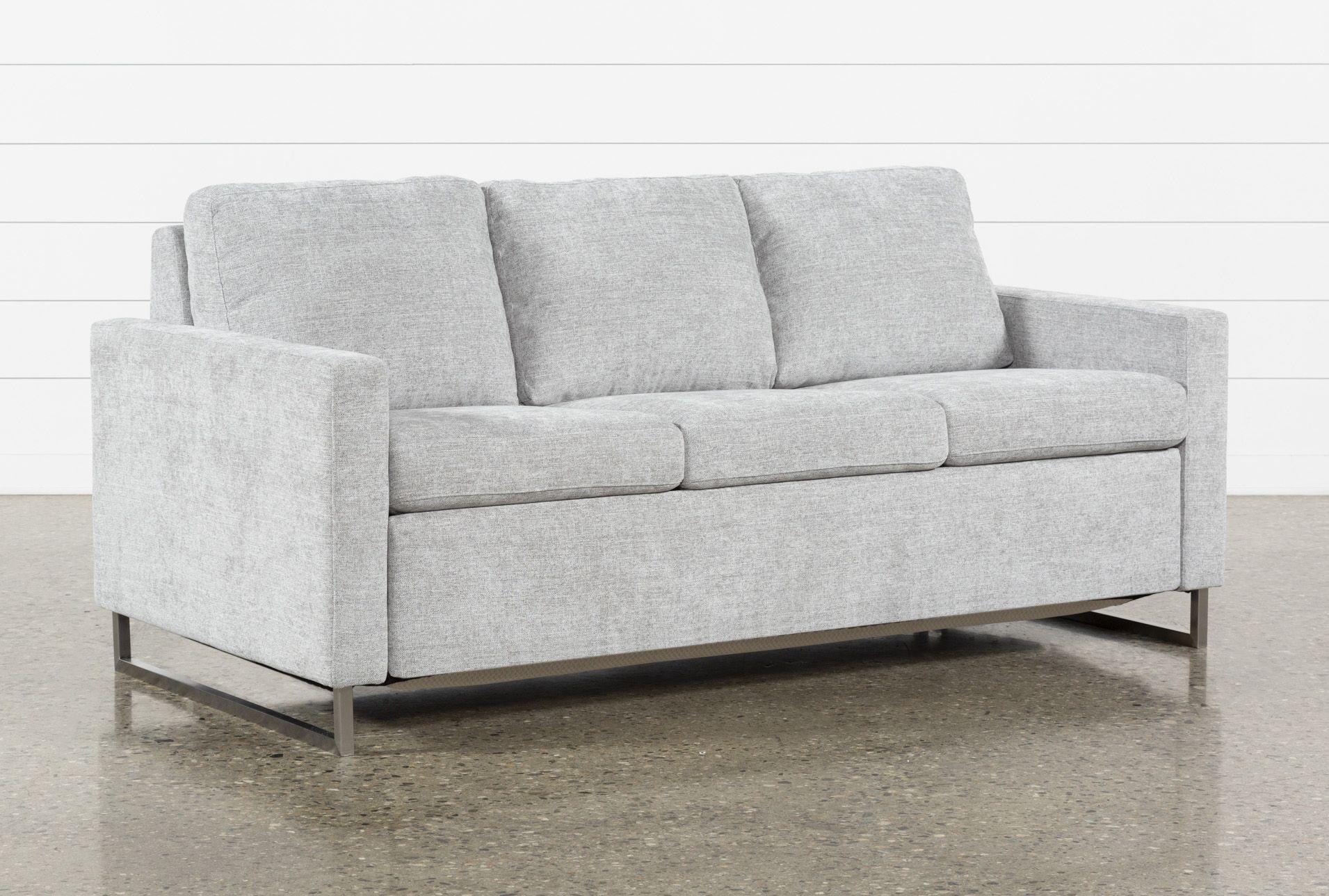 Best Branson Light Grey Queen Plus Sofa Sleeper Sleeper Sofa 400 x 300