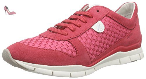 best service 6f059 642f7 Sneakers Femme Rouge 38 Basses A D Sukie Geox coralc7008 Rot qCvZwAntx