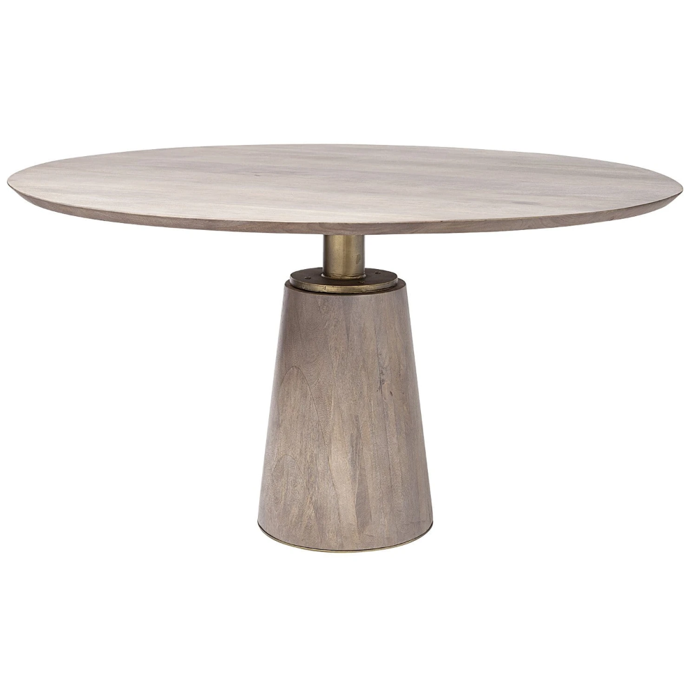 Candelabra Home Maxwell Ii 54 In 2021 Dining Table Metal Base Dining Table Modern Round Kitchen Table