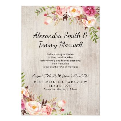 Pink floral chic wedding card wedding invitations cards custom pink floral chic wedding card wedding invitations cards custom invitation card design marriage party stopboris Image collections
