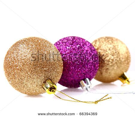 Google Image Result for http://image.shutterstock.com/display_pic_with_logo/1483/1483,1291311485,15/stock-photo-gold-and-purple-glittery-christmas-balls-on-white-background-66394369.jpg