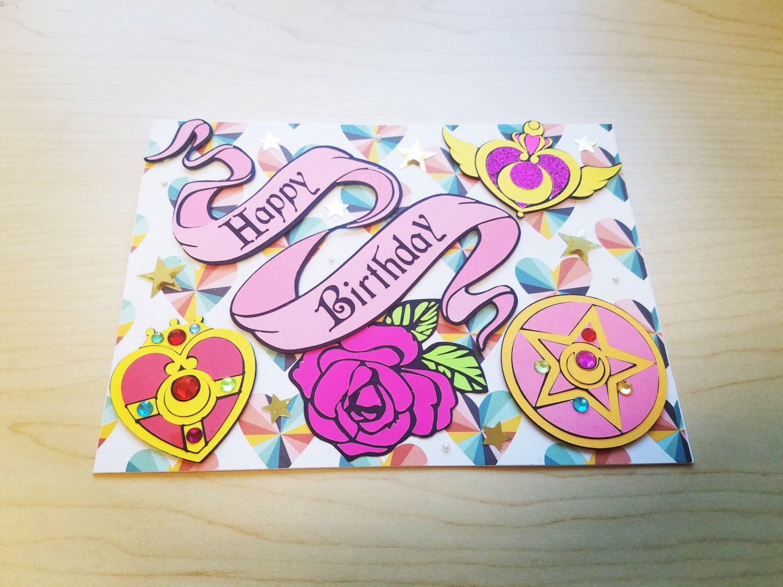 Birthday Cards Unique ~ Sailor moon birthday card handmade unique 3d birthday card sailor