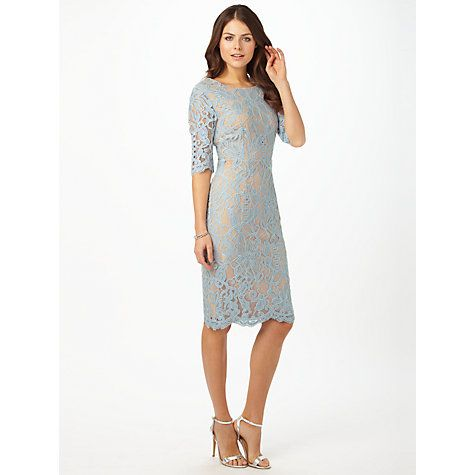 Buy Phase Eight Odile Lace Dress, Blue Dove Online at johnlewis.com ...