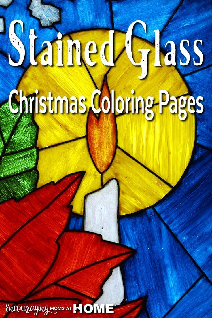 Free stained glass christmas coloring pages encouraging moms at