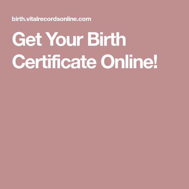 Get Your Birth Certificate Online! | GENEALOGY | Pinterest | Birth ...